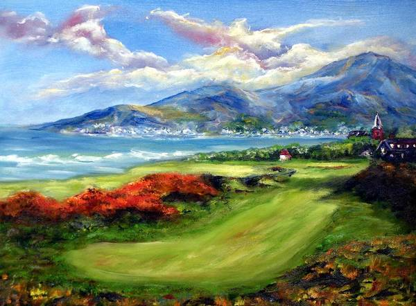Golf Poster featuring the painting Royal County Down by Thomas Restifo