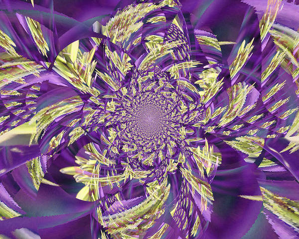 Royal Poster featuring the digital art Royal Purple by Rose Hill