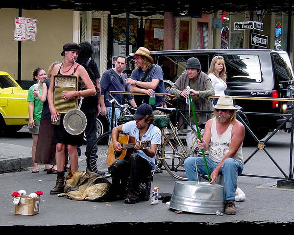 New Orleans Poster featuring the photograph Royal Street Musicians by Linda Kish