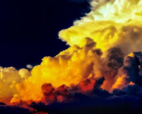 Poster featuring the photograph Rubber Ducky Elephant Clouds by Brandon Stull