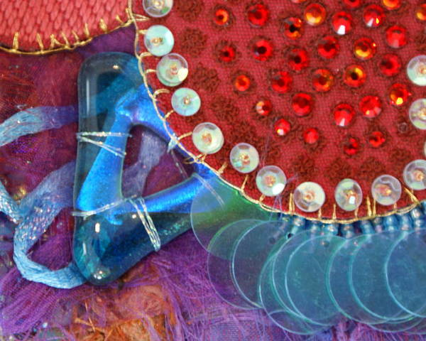 Poster featuring the mixed media Ruby Slippers 4 by Judy Henninger