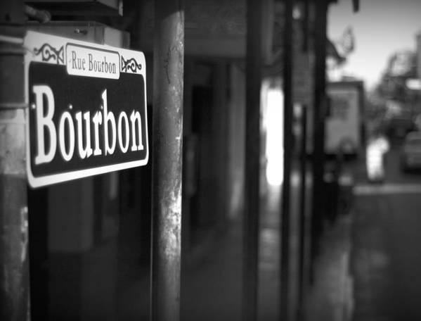 \bourban Street\ Poster featuring the photograph Rue Bourbon by John Gusky