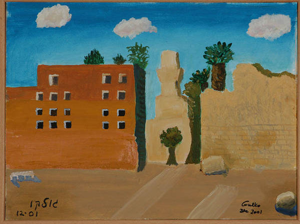 Religious Poster featuring the painting Ruins Of A Mosque by Harris Gulko