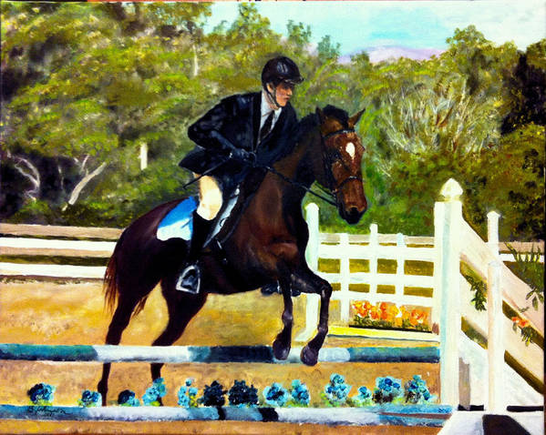 Horse Poster featuring the painting Running Free by Beverly Johnson