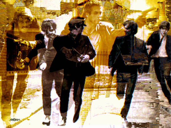 Beatles Poster featuring the photograph Running Under the Gun by Seth Weaver
