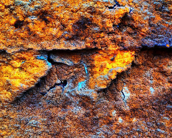 Rust Poster featuring the photograph Rust Abstract 9 by Lilia D