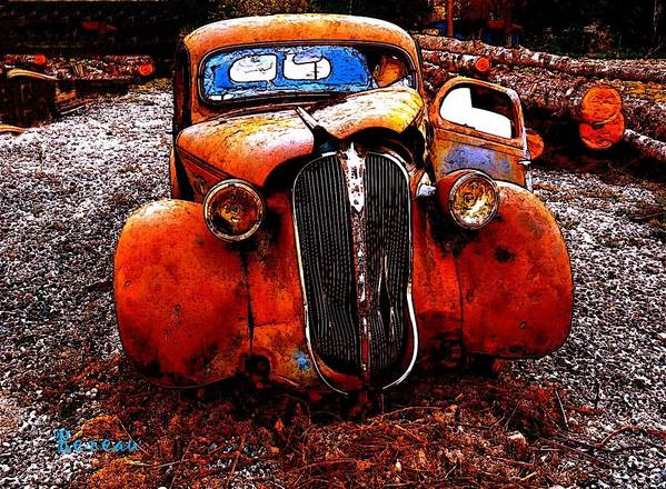 Autos Poster featuring the photograph Rust In Peace by Sadie Reneau