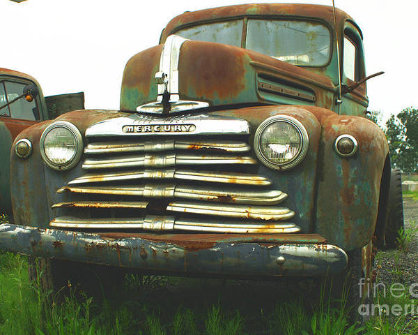Old Cars Poster featuring the photograph Rustic Mercury by Randy Harris