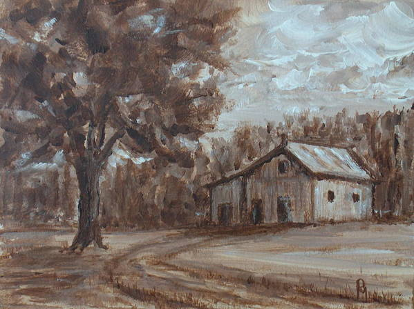 Barn Poster featuring the painting Rustic by Pete Maier