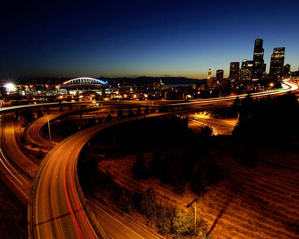 Seattle Poster featuring the photograph S Curve C015 by Yoshiki Nakamura