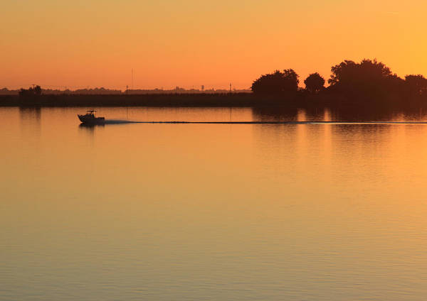 Boat Poster featuring the photograph Sacramento River Sunrise by Troy Montemayor
