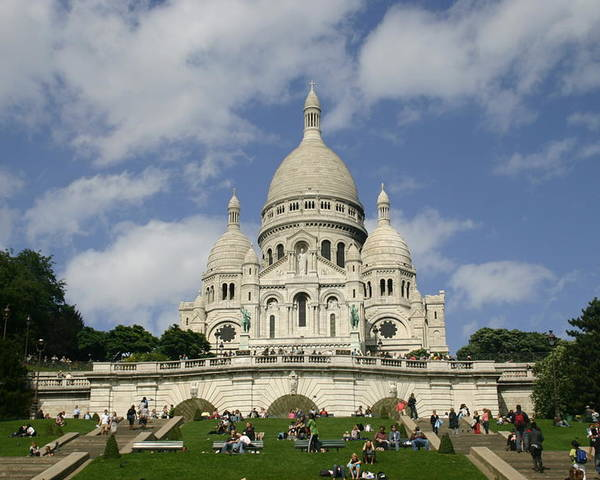 Sacre Coeur Poster featuring the photograph Sacre Coeur Paris France by Matthew Kennedy