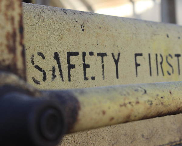 Safety Poster featuring the photograph Safety First by Wade Milne