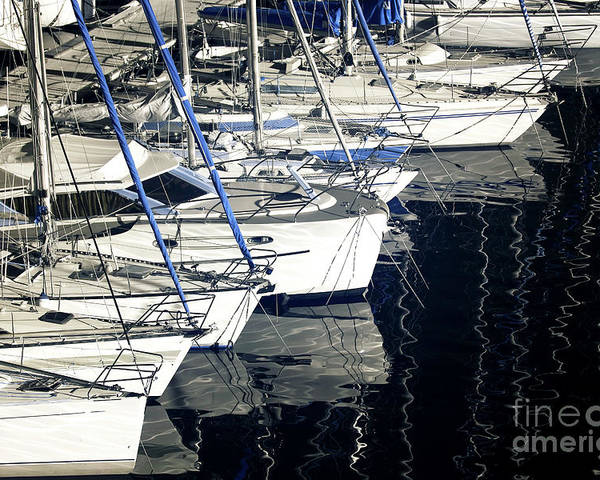 Sailboat Bow Poster featuring the photograph Sailboat Bow by John Rizzuto