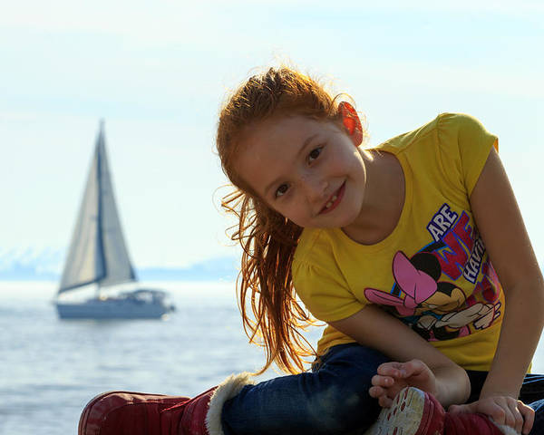 Girl Poster featuring the photograph Sailboat Girl by Travis Rogers