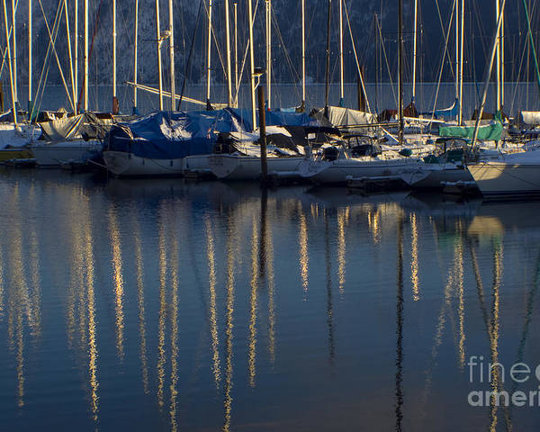 Mast Poster featuring the photograph Sailboat Reflections by Idaho Scenic Images Linda Lantzy