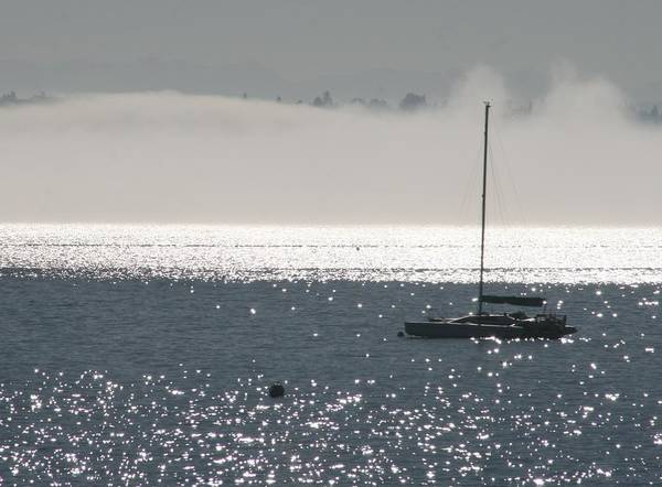 Sailboat Poster featuring the photograph Sailboat Silhouette by Glenn Wachtman