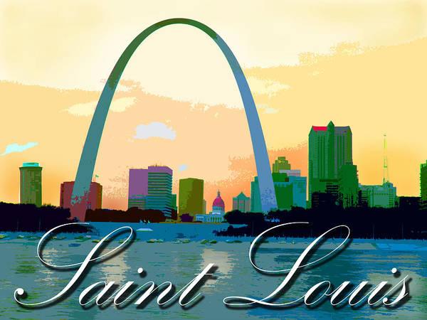Skyline Of Saint Louis Poster featuring the photograph Saint Louis by John Lautermilch