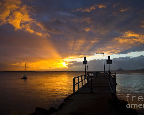 Sunrise Poster featuring the photograph Salamander Bay Sunrise by Sheila Smart Fine Art Photography