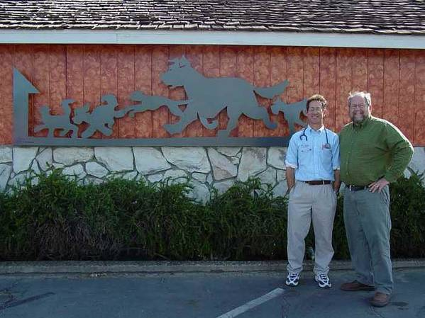 Corporate Commissions Poster featuring the sculpture Salida Veterinary Clinic   Sold by Steve Mudge