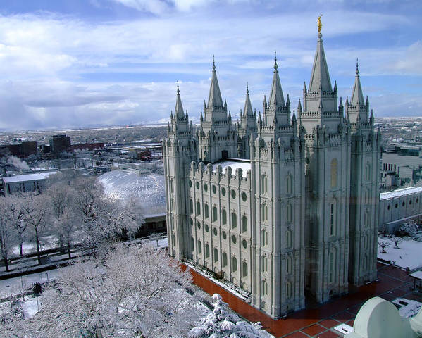 Temple Poster featuring the photograph Salt Lake City Lds Temple by Richard Coletti