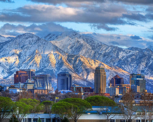 Salt Poster featuring the photograph Salt Lake City Utah Usa by Utah Images