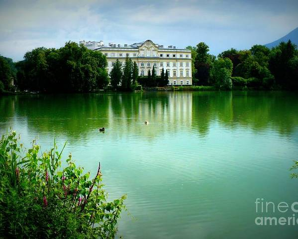 Salzburg Poster featuring the photograph Salzburg Home With Lake by Carol Groenen