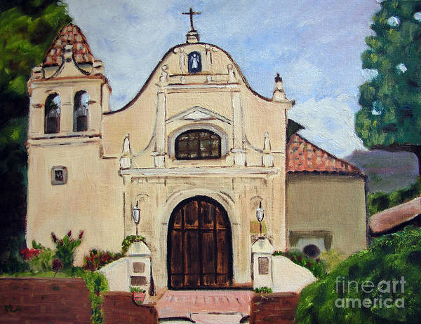 Landscape Poster featuring the painting San Carlos Cathedral by Mary Capriole