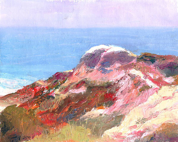 Landscape Poster featuring the painting San Clemente Overlook by Timothy Chambers