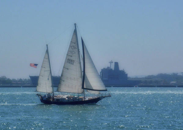 Water Poster featuring the photograph San Diego Bay by JAMART Photography