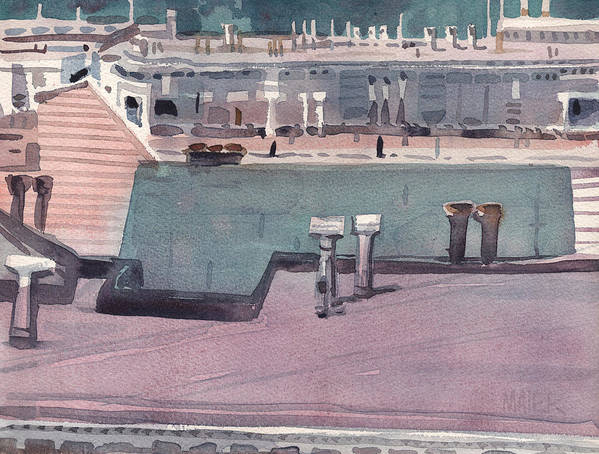 Plein Air Poster featuring the painting San Francisco Rooftops by Donald Maier