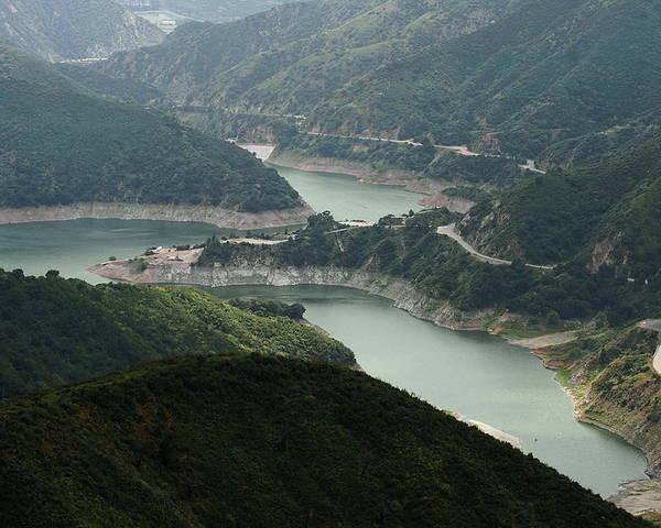 San Gabriel Dam Poster featuring the photograph San Gabriel Dam by Viktor Savchenko