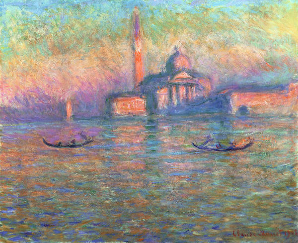 Claude Poster featuring the painting San Giorgio Maggiore Venice by Claude Monet