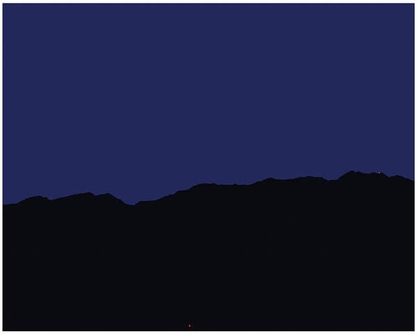 San Jacinto Mountain Range Poster featuring the painting San Jacintos At Night by Stan Magnan