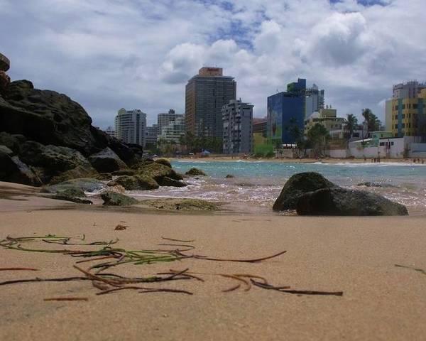 San Juan Poster featuring the photograph San Juan Beach Iv by Anna Villarreal Garbis