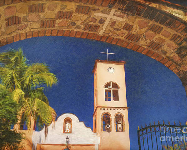 Central America Poster featuring the photograph San Pedro Apostol Parish. El Tuito, Mexico #3 by George Robinson