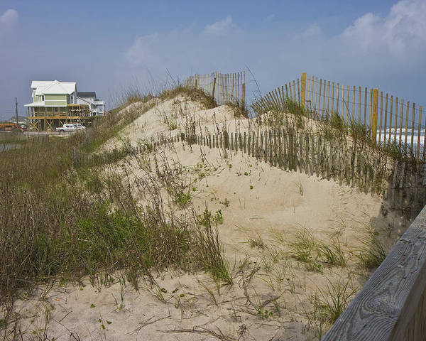 Topsail Poster featuring the photograph Sand Dunes II by Betsy Knapp