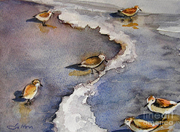 Original Paintings Poster featuring the painting Sandpiper Seashore by Julianne Felton