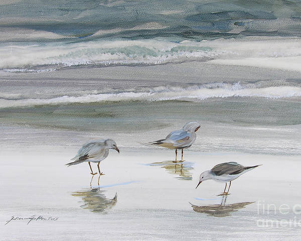 Art Poster featuring the painting Sandpipers by Julianne Felton