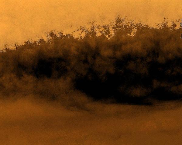 Digital Poster featuring the digital art Sandstorm On Arrakis by Richard Coletti