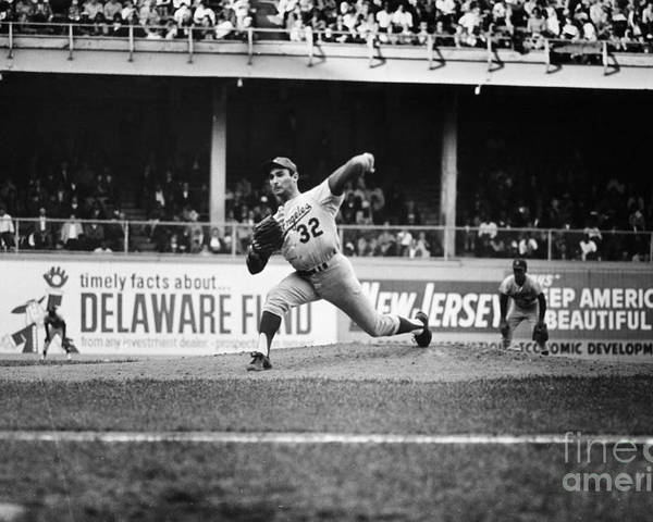 1966 Poster featuring the photograph Sandy Koufax (1935- ) by Granger