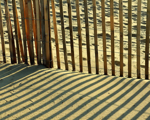 Beach Poster featuring the photograph Sandy Pinstripes by JAMART Photography