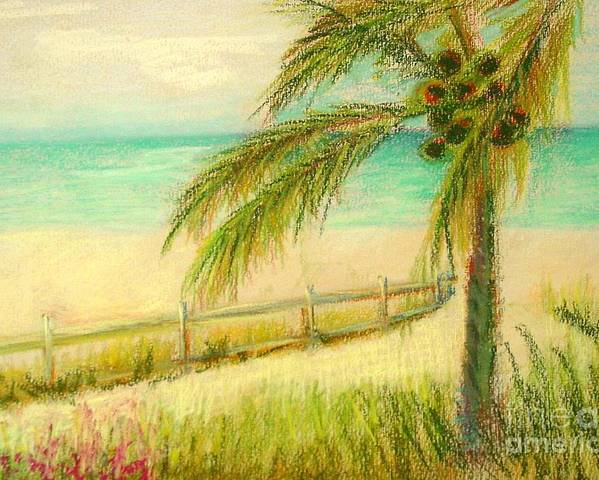 Landscape Poster featuring the painting Sanibel Breeze      Copyrighted by Kathleen Hoekstra