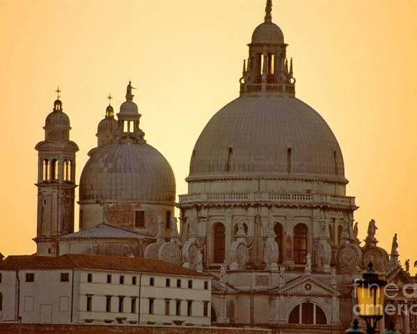 Venice Poster featuring the photograph Santa Maria Della Salute In Venice by Michael Henderson