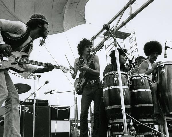 Santana at 1969 Woodstock with band