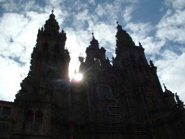 Santiago Compostela Cathedral Spanish Spain Gothic Europe Poster featuring the photograph Santiago De Compostela by Lara Henderson