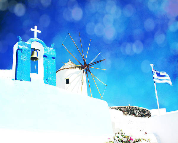 Poster featuring the photograph Santorini 1 by Sylvia Coomes