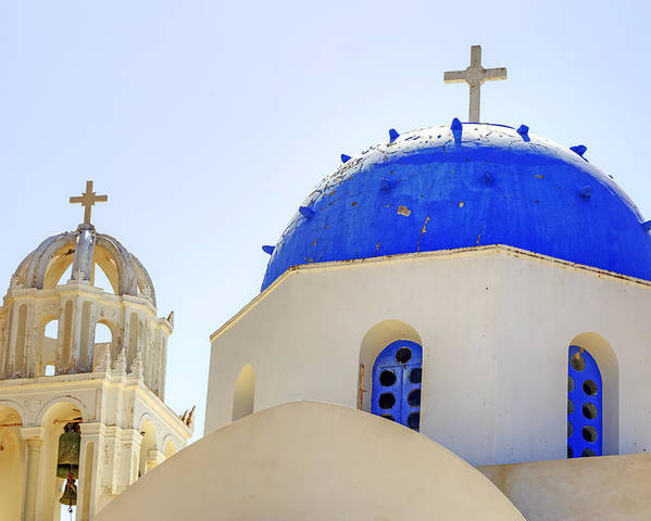 Church Poster featuring the photograph Santorini by Joana Kruse
