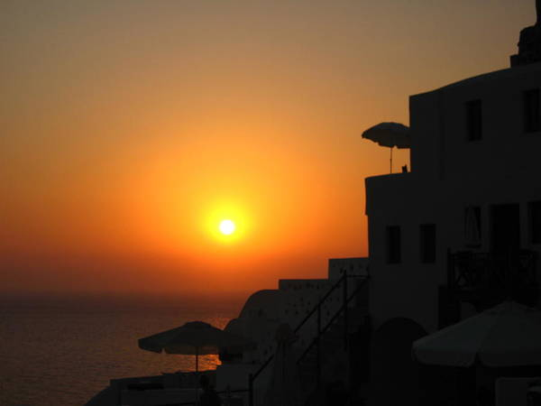Greece Poster featuring the photograph Santorini Sunset by Ariane Moshayedi