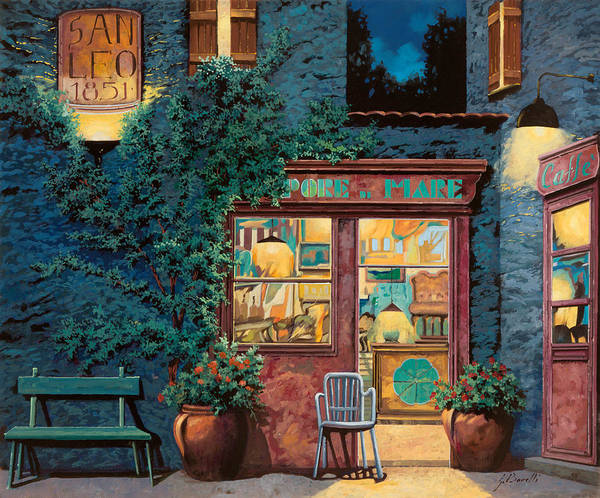 Courtyard Poster featuring the painting Sapore Di Mare by Guido Borelli